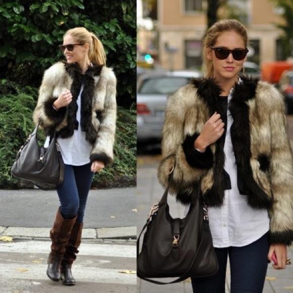 san francisco real deal quality design Lanvin H&M faux fur coat size 4